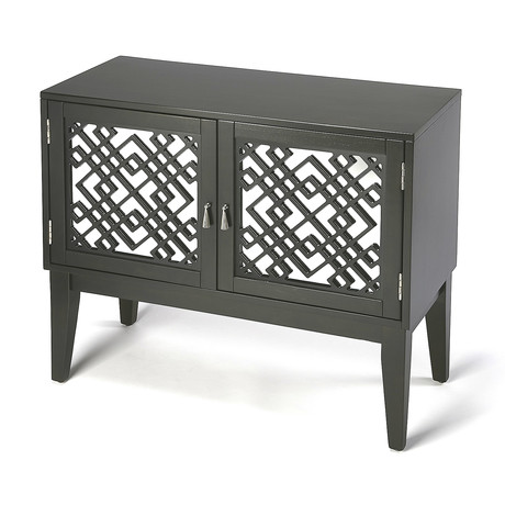 Athena Mirrored Console Cabinet // Dark Brown