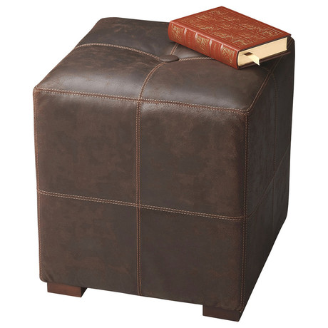 Warwick Leather Bunching Ottoman