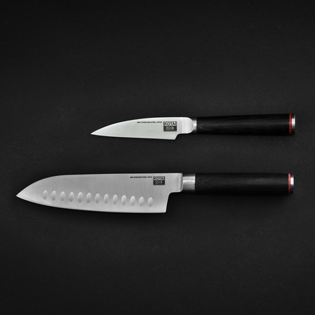 Asian Set // Santoku + Paring Knife