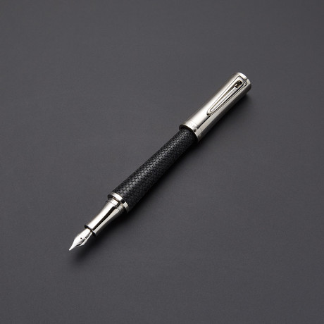 Chopard Racing Palladium + Black Rubber Fountain Pen