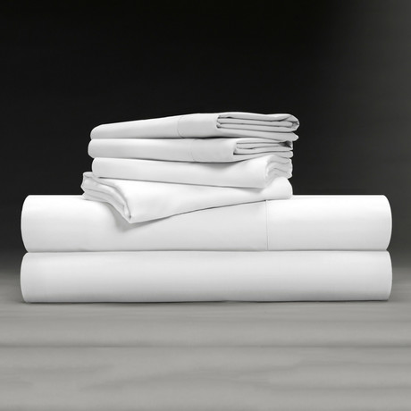 Luxe Soft & Smooth TENCEL™// 6-Piece Sheet Set // White (Full)