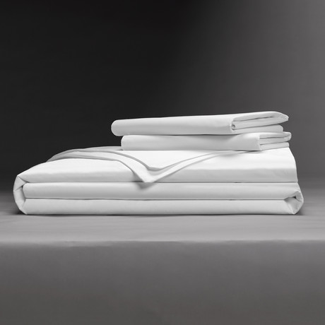 Luxe Soft + Smooth Tencel™ Duvet Cover Set // White (Full/Queen)