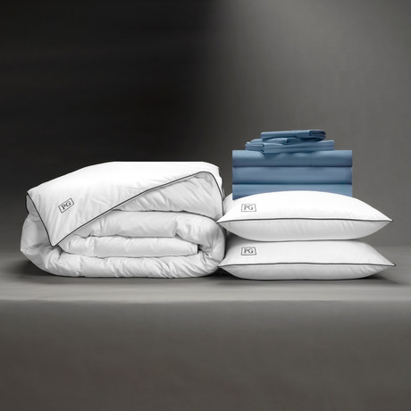 Luxe Soft + Smooth Perfect Bedding Bundle // Cadet Blue (Full)