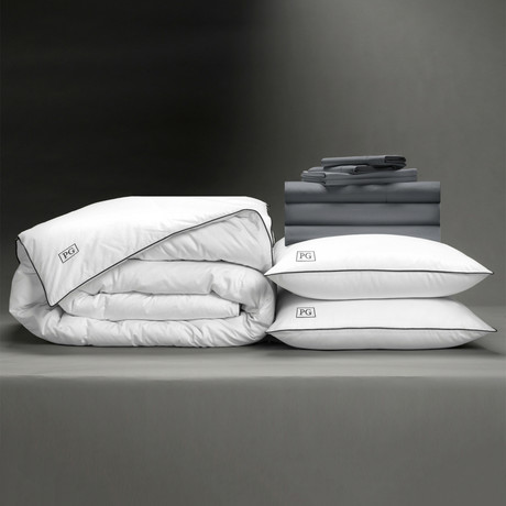 Luxe Soft + Smooth Perfect Bedding Bundle // Charcoal (Full)