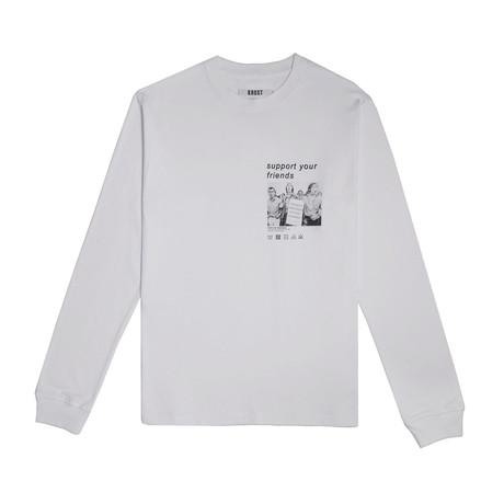 Dreamer Long Sleeve Tee // White (Small)