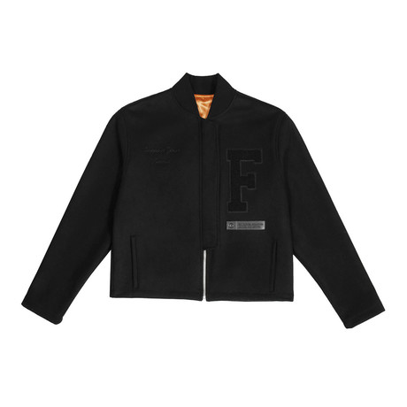 SYF Varsity Jacket // Black (Small)
