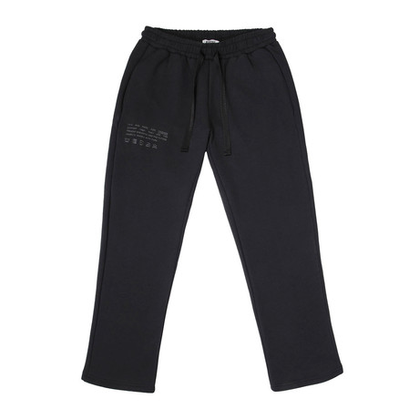 Care Label Instructions Sweatpants // Black (Small)