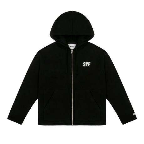 SYF Zip Hoodie // Black (Small)