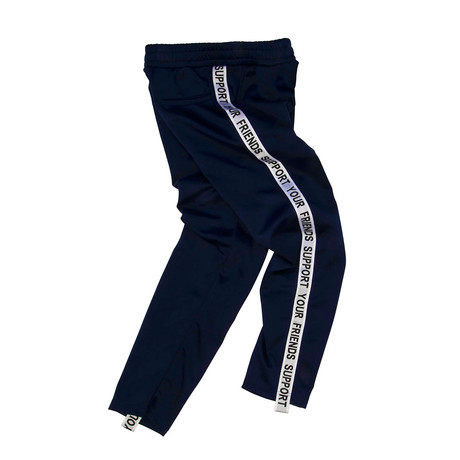 SYF Track Pants // Navy + White (Small)