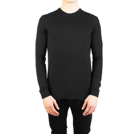 Embroidered Crewneck Sweater // Black (Small)