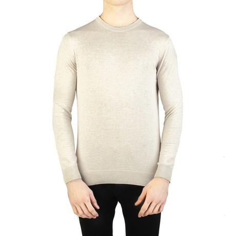 Embroidered Crewneck Sweater // Cream White (Small)