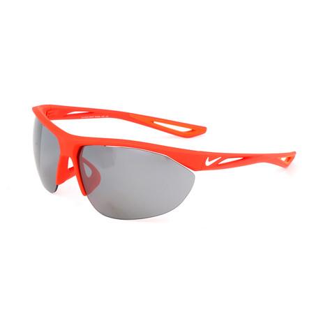 Unisex Tailwind Swift Sunglasses // Crimson + White + Gray Silver