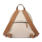 Leather Backpack + Clutch // Cream