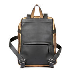 Leather Backpack // Gold