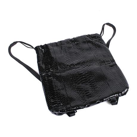 Monili Bead Sack Backpack // Black