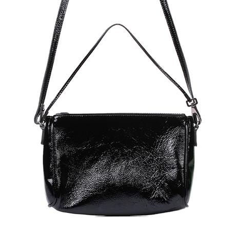 Leather + Python Handbag // Black
