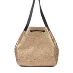 Leather Handbag // Gold