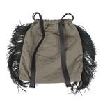 String Backpack + Monili Beads // Green