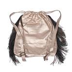 Leather Sacbag // Silver + Gold