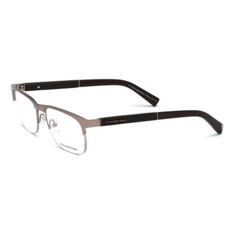 Men's EZ5014 Eyeglasses // Copper + Dark Brown