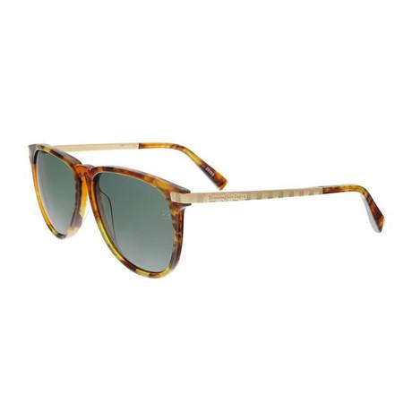 Men's EZ0038 Polarized Sunglasses // Havana Green