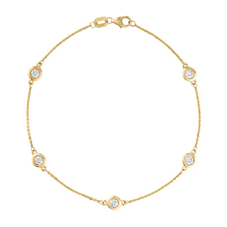 Estate 14k Yellow Gold Chain Bracelet
