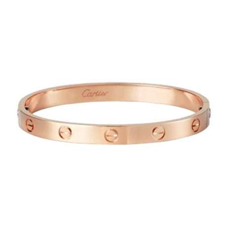 Vintage Cartier 18k Rose Gold Love Bracelet