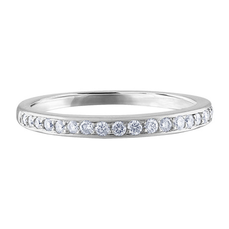 Estate 14k White Gold Diamond Ring // Ring Size: 7.25