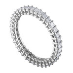 Estate 18k White Gold Diamond Ring II // Ring Size: 6.25