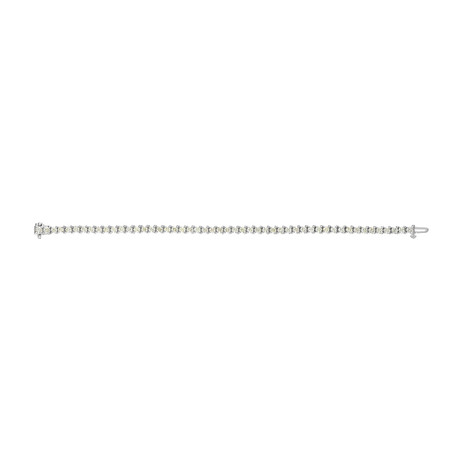 Estate 18k White Gold Diamond Bracelet