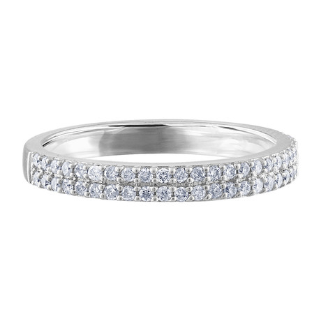 Estate 14k White Gold Diamond Ring // Ring Size: 6.5