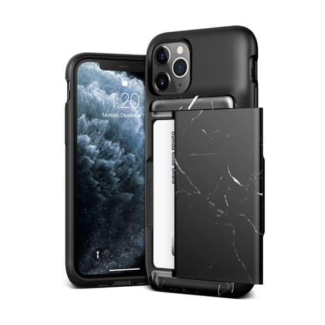 Damda Glide Shield // Black Marble (iPhone 11)