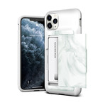 Damda Glide Shield // White Marble (iPhone 11)