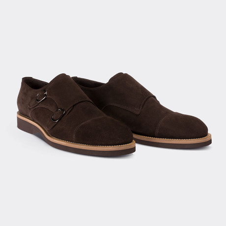 Ajax Monk Strap Shoes // Brown (Euro: 38)