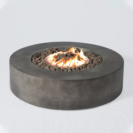 "Propane/Natural Gas Fire Pit Table // 42"" Round // Cast Stone"
