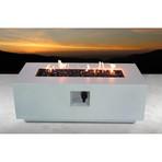 """Propane/Natural Gas Fire Pit Table // 42"""" Rectangular // Cast Concrete (Natural Concrete)"""