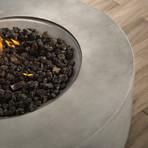 "Propane/Natural Gas Fire Pit Table // 36"" Round // Cast Concrete (Natural Concrete)"