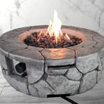 "Propane/Natural Gas Fire Pit Table // 28"" Round // Cast Concrete"