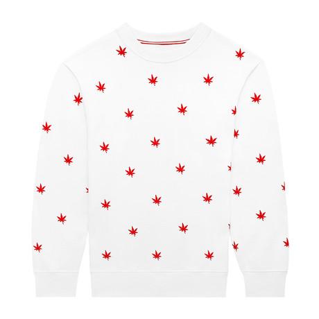 Monogram Pullover // Bright White (S)