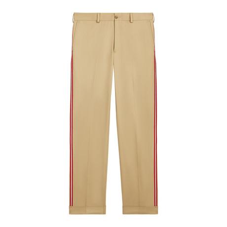 Chino Pant With Taping // Khaki (XS)