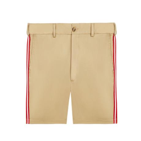 Chino Shorts With Taping // Khaki (XS)
