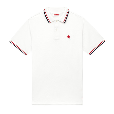 1983 Polo // White + Red + Navy (XS)