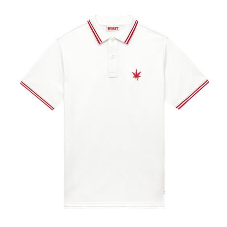 1984 Polo // White + Red (XS)