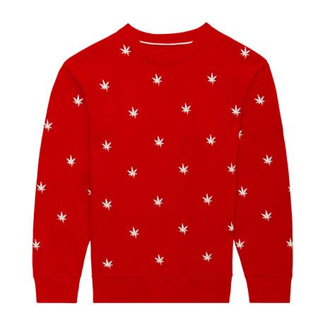 Monogram Pullover // Boast Red (S)