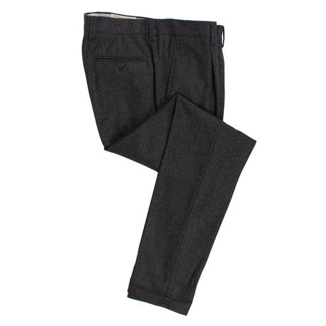 Wool Pleated Dress Pants V1 // Dark Gray (56)