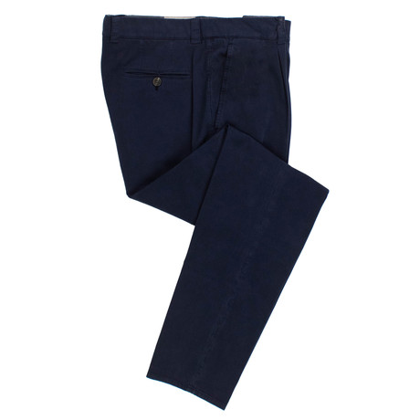 Cotton Pleated Dress Pants // Blue (54)