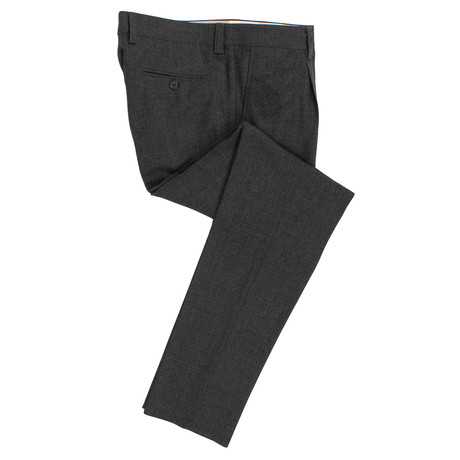 Wool Pleated Dress Pants // Charcoal Gray (54)