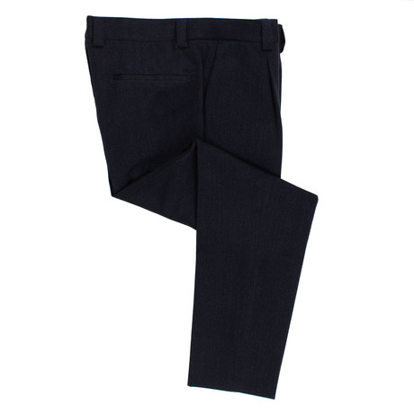 Pleated Dress Pants // Navy Blue (54)