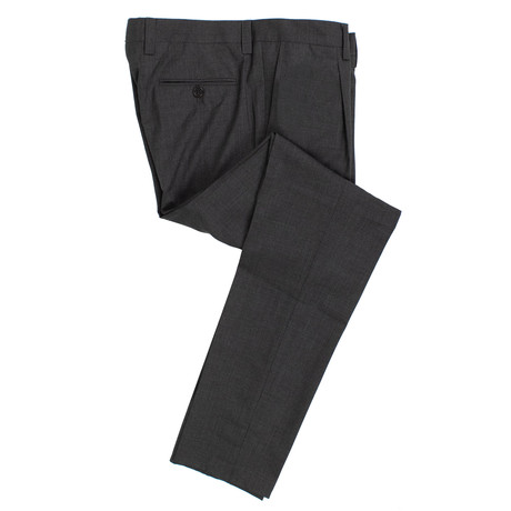 Wool Pleated Dress Pants V3 // Dark Gray (54)