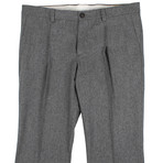 Wool Pleated Dress Pants V2 // Dark Gray (56)